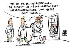 karikatur-schwarwel-apple-steuer-steuernachzahlung-irland