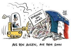 karikatur-schwarwel-calais-frankreich-dschungel-gefluechtete-fluechtlinge-fluechtlingspolitik