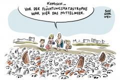 karikatur-schwarwel-mittelmeer-ertrunken-fluechtlinge-gefluechtete-fluechtlingspolitik