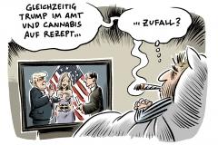 karikatur-schwarwel-donald-trump-wahl-medizin-cannabis-auf-rezept