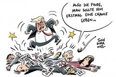 karikatur-schwarwel-donald-trump-praesident-president-wahl-abschlussrede-america-first