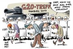 karikatur-schwarwel-g20-gipfel-hamburg-protest-camp-globalisierung-demo-protestwelle