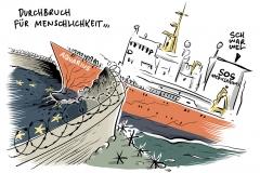 """Aquarius"""" mit Mittelmeer-Geflüchteten in Valencia eingelaufen: Politische Botschaft an Europa"""