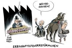 karikatur-schwarwel-reform-steuerreform-erbe-erbschaft
