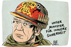 karikatur-schwarwel-de-maiziere-innenminister-auslaenderrecht-fluechtlinge