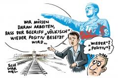 karikatur-schwarwel-afd-frauke-petry-hitler-voelkisch-hoffaehig-nationalismus