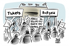 karikatur-schwarwel-fussball-hooligans-verbandsstrafen-krawalle-randale-stadion