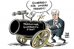 karikatur-schwarwel-csu-seehofer-ueberwachung-abschiebung-terror-anschlag-fluechtlingspolitik-sicherheit-angst