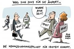karikatur-schwarwel-neues-jahr-vorsaetze- 2017-rente-kindergeld-steuer-steuern-idiot-idioten-idiotie