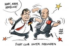 karikatur-schwarwel-fightclub-cavusoglu-sigmar-gabriel-deutschland-tuerkei-politik
