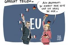 karikatur-schwarwel-merkel-macron-deutschland-frankreich-politik-politiker-eu