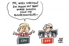 Wahl zum Bundeskanzler: Mehrheit der Deutschen sieht Merkel im TV-Duell vorne