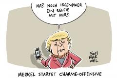 Wahlkampf: Merkel gegen Schulz