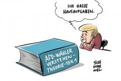 Wahlausgang: Diskussion um Merkels Anteil am AfD-Erfolg
