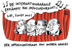 SPD nach der Wahl: Nahles sucht Zusammenarbeit mit Linkspartei