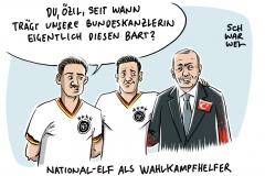 Wahlkampfhilfe für Erdogan: Nationalspieler Özil und Gündogan treffen sich medienwirksam mit türkischem Staatsoberhaupt
