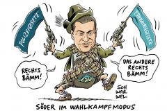CSU sucht Mittel gegen AfD: Söder im Wahlkampdmodus