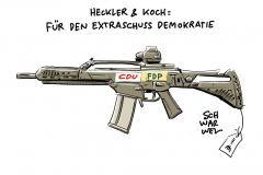 Kriegswaffenexporte Heckler & Koch: Ermittlungsverfahren wegen Bestechung von Politikern von CDU und FDP
