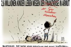 schwarwel-karikatur-armut-unicef-kinder-finanzkrise-kinderarmut