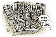 schwarwel-karikatur-volk-feierlichkeiten-mauerfall-25 jahre