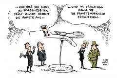 schwrwel-karikatur-drohne-aussenministerin-bundeswehr
