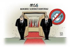 karikatur-schwarwel-msc-sicherheitskonferenz-frieden-aktivist