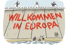 karikatur-schwarwel-flüchtlinge-flüchtlingskrise