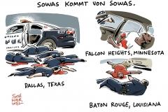 karikatur-schwarwel-dallas-us-polizei-polizeigewalt