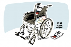 karikatur-schwarwel-doping-paralympic-paralympics-russland