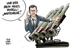 karikatur-schwarwel-waffenruhe-feuerpause-syrien-krieg-terror-assad