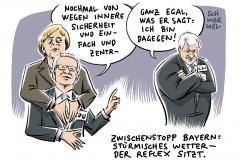 karikatur-schwarwel-innere-sicherheit-de-maiziere-merkel-seehofer-cdu-csu