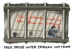 karikatur-schwarwel-presse-freiheit-erdogan-tuerkei-trump-us-usa-amerika