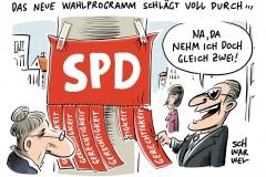 karikatur-schwarwel-spd-martin-schulz-wahl-wahlen-bundeskanzler-bundestagswahl-zeit-fuer-mehr-gerechtigkeit