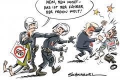 karikatur-schwarwel-g20-gipfel-hamburg-polizei-donald-trump