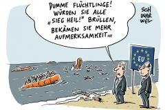 -karikatur-schwarwel-fluechtlinge-gefluechtete-fluechtlingskrise-mittelmeer-de-maiziere-sieh-heil-themar