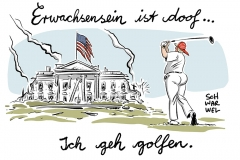 karikatur-schwarwel-donald-trump-usa-praesident-make-america-great-again-weisses-haus