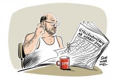 Auch nach einer Wahlniederlage: Schulz will SPD-Chef bleiben