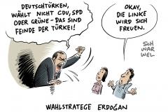 Deutschtürken bei Bundestagswahl: Erdogan fordert Boykott von CDU, SPD und Grünen