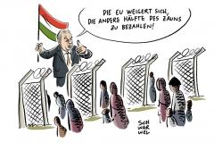 Forderung von Ungarn abgelehnt: EU will nicht für Flüchtlings-Zaun bezahlen