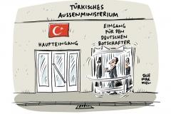 Spannungen mit Türkei: Deutscher Botschafter zum zweiten Mal innerhalb 48 Stunden einbestellt