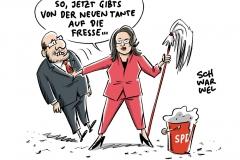 Führungswechsel mit Kampfansage: Andrea Nahles neue SPD-Fraktionschefin