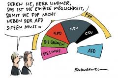 Sitzordnung des Bundestags: FDP will nicht neben AfD und kämpft um Platz in der Mitte