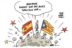 Spanische Provinz Katalonien: Puigdemont droht Haft – Madrid ruft zu zivilem Ungehorsam auf