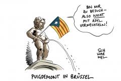 Flucht aus Katalonien: Puigdemont will kein Asyl in Belgien