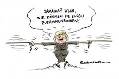 """Merkel optimistisch über Jamaika: """"Wir können die Enden zusammenbinden"""""""