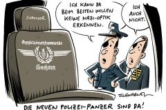 Nazi-Ästhetik bei Polizei Sachsen: Aufregung um neuen Panzerwagen