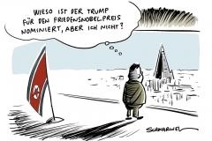 Friedensnobelpreis: Trump zum dritten Mal nominiert