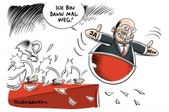 Nach wachsender Kritik aus SPD: Martin Schulz verzichtet auf Außenministerium