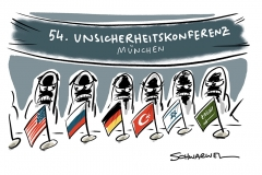54. Münchner Sicherheitskonferenz: Politiker und Experten diskutieren fast gleiche Themen wie vergangenes Jahr