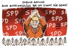 SPD-Mitgliedervotum: Zweidrittelmehrheit stimmt für GroKo